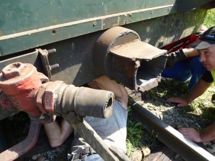 Kapitaler Bruch der Kupplung - Wassertalbahn
