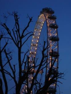London Riesenrad bei Nacht - London Eye