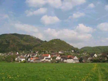 Blick auf Rühle - Weserbergland