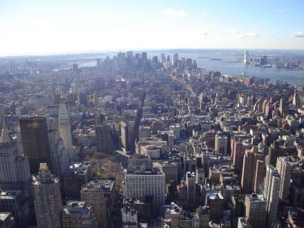 Blick auf Manhatten - Empire State Building
