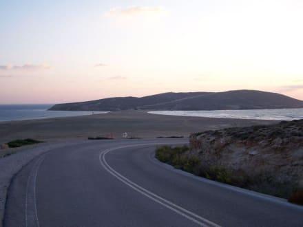 Blick auf den gegensätzlichen Strand - Strand Prasonissi