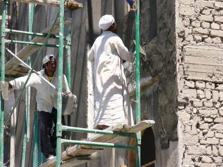 Bauarbeiter in Hurghada Down-Town - Zentrum Hurghada