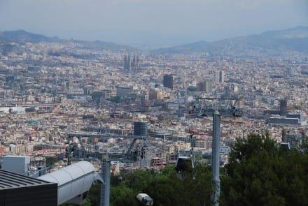 Aussicht vom Castell im Park Montjuic - Parc Montjuic