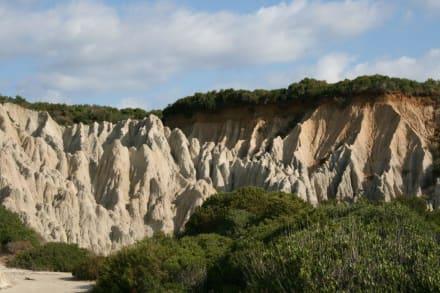 Erosionsformationen am Kap Gerakas - Strand Gérakas
