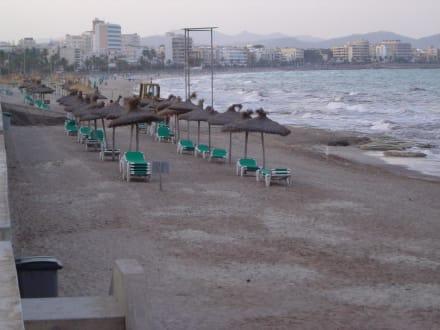 Leider die Realität am Strand, nicht sonderlich schön... - Strand Cala Millor
