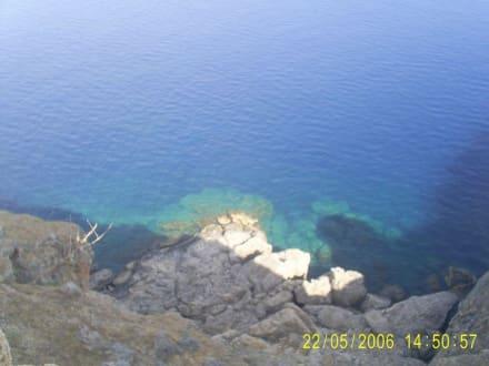 Akropollis Blick aufs glasklares Meer - Akropolis von Lindos
