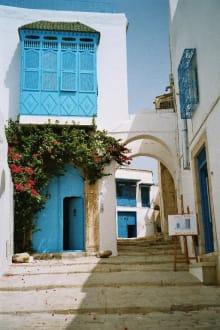 Bild vom berühmten Künstlerdorf - Künstlerdorf Sidi Bou Saïd