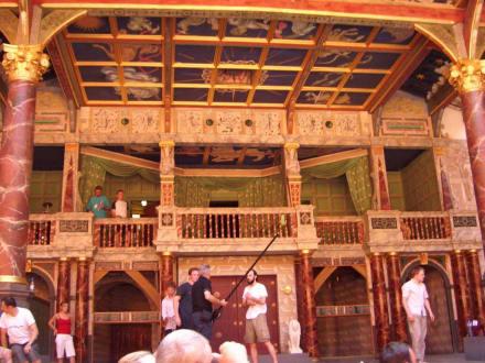 Bei den Proben - The Globe - Theater und Museum