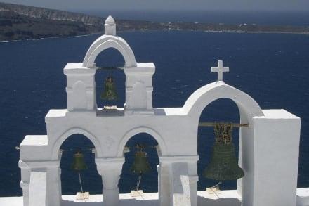 Blick von Oia über die Caldera - Altstadt Oia