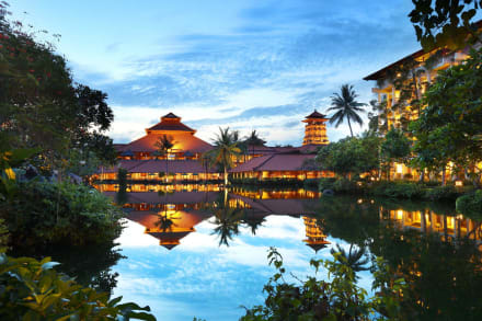 Beautiful evening at Ayodya Resort Bali -