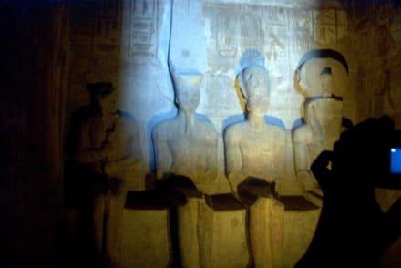 Das Allerheiligste - Tempel von Abu Simbel