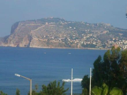 Ausblick vom Hotel - Burg von Alanya  (Ic Kale)