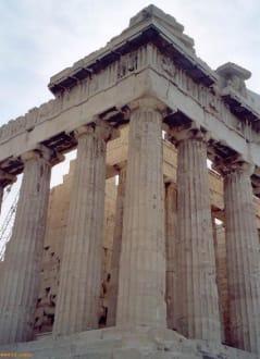 Ein Teil der wunderschönen und mächtigen Akropolis - Akropolis