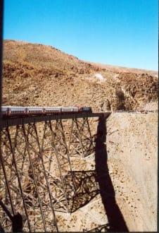 Zug auf dem Viadukt La Polvorilla - Tren a las Nubes