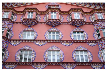 Häuserfassade in Ljubljana - Altstadt Ljubljana/Laibach
