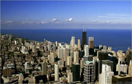 Postkarte aus Chicago - Skyline Chicago