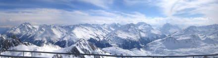 Panorama Valluga - Skigebiet Arlberg Lech Zürs
