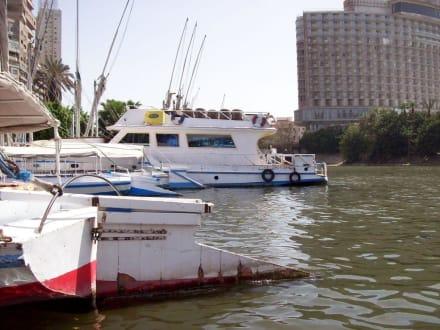 Ruhig liegen sie im Wasser - Bootstour auf dem Nil