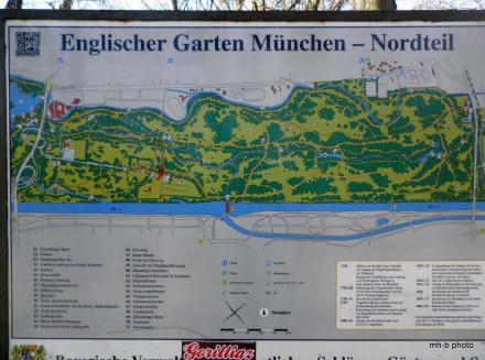 Ubersichtskarte Des Nordteil Im Engl Garten Bild Englischer Garten In Munchen