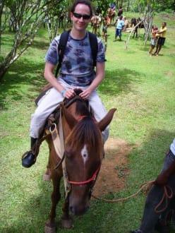 Per Pferd zum Wasserfall - Wasserfall Saltos de Limon