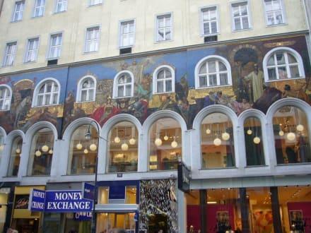 16dd61cdb7ae72 Bilder Kaufhaus Steffl - Blick aus dem gläsernen Außen-Aufzug - Wien ...