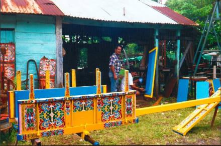 Ochsenkarrenwerkstatt in Sarchi - Ochsenkarrenfabrik Joaquín Chaverri