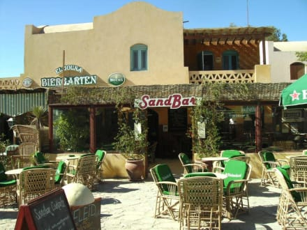 Blick zum Biergarten - Ausflug nach El Gouna