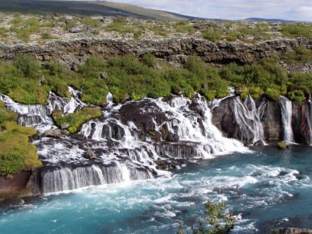 Wasserfall Hraunarfossar - Hraunfossar Wasserfälle