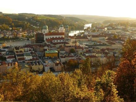 Blick von der Oberveste Passau auf die Stadt - Veste Oberhaus