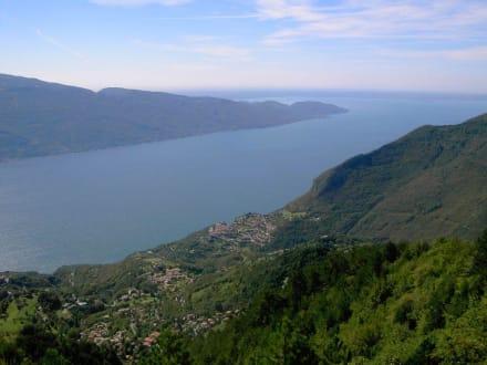 Aussicht auf den Gardassee - Cima Piemb