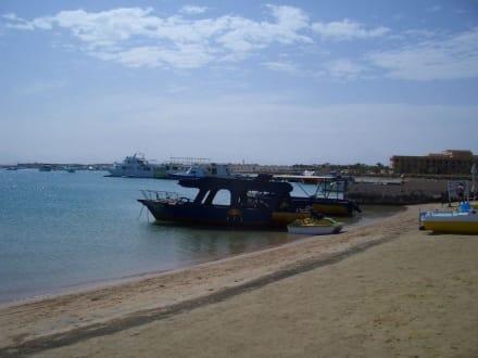 Boot und Strand - Strände Hurghada