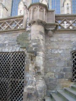 Dies war wohl mal eine Treppe am Erfurter-Dom. - Erfurter Dom
