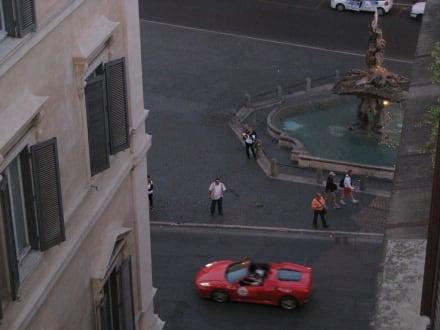 Ausblick auf den Piazza Baberini - Hotel Barocco