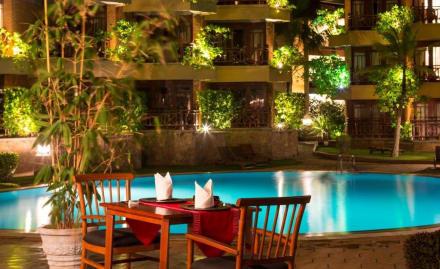 Pool side restaurant -