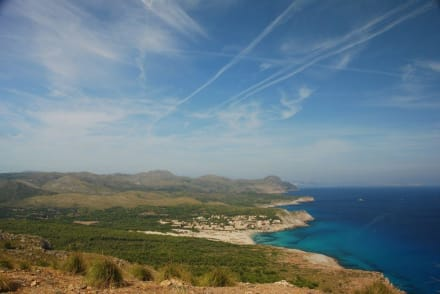 Blick auf Cala Mesquida von Talaia Son Jaumell - Strand Cala Mesquida