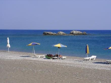 Strandabschnitt von Rhodos - Strand Faliraki