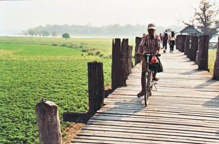 Fahrradfahrer - U-Bein Brücke