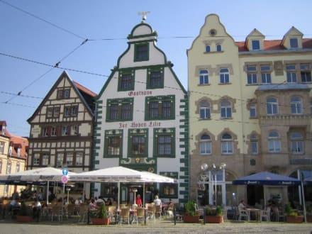 Restaurants am Platz vor dem Dom. - Altstadt Erfurt