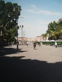 Einer der mehreren Zügange zum Platz der Gaukler - Place Djemaa el Fna