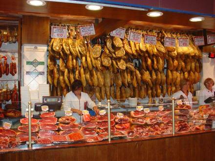 Palma de Mallorca - Markthalle Schinkenstand - Markthalle de l'Olivar