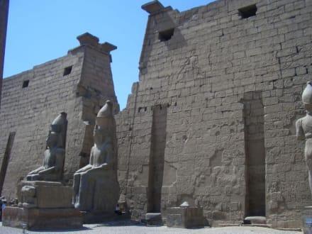 Statuen Ramses des 2ten am Eingang - Luxor Tempel