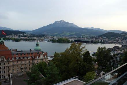 Aussicht auf Luzern - Art Deco Hotel Montana Luzern
