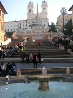 Spanische Treppe im März - Piazza di Spagna & Spanische Treppe
