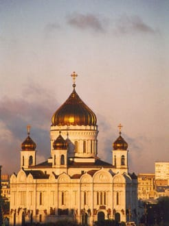 Erlöserkathedrale bei Sonnenaufgang - Kreml / Präsidentenpalast