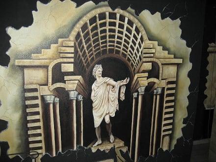 Wanddeko im Aspendos-Theater - Theater von Aspendos