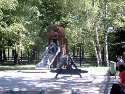 Spielplatz am Russischen Teehäuschen - Wildpark Leipzig