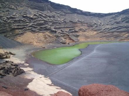 El Golfo der grüne See (Lagune) - Charco de los Clicos / Grüner See
