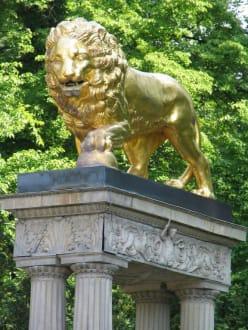 Löwe im Park - Jagdschloss Glienicke Berlin