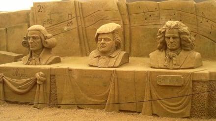 Haydn, Wagner, Beethoven - Sandskulpturen Festival