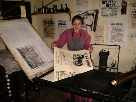 Historische Zeitungsherstellung - Upper Canada Village